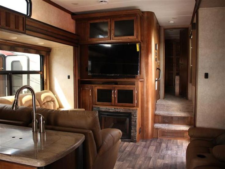 5th Wheel Toy Hauler With Largest Living Room Home And Harmony