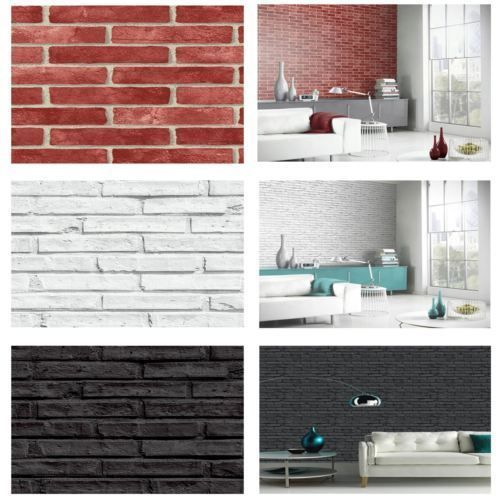 17 mejores ideas sobre paredes de ladrillo blanco en for Papel pintado para salon blanco