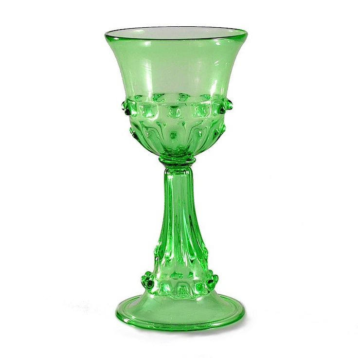 ELYAN green medieval goblet -Original Murano Glass GAME OF THRONES goblet