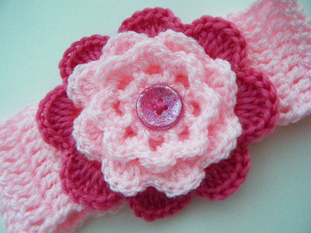 Crochet baby headband free pattern