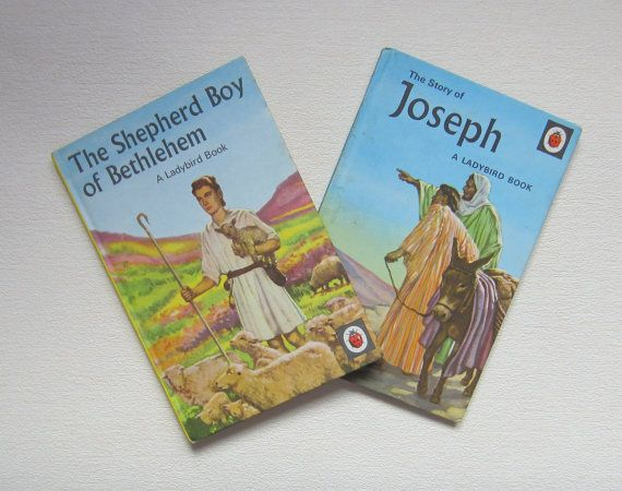 2 1950's Ladybird Books Joseph and The by TheCraftyCurioShop