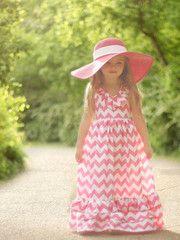chevron maxi and hat.Dresses Pattern, Little Girls, Maxi Dresses, Dress Sewing Patterns, Maxi Dress Patterns, Maxis Dresses, Violette Fields, Flower Girls, Dresses Sewing Pattern