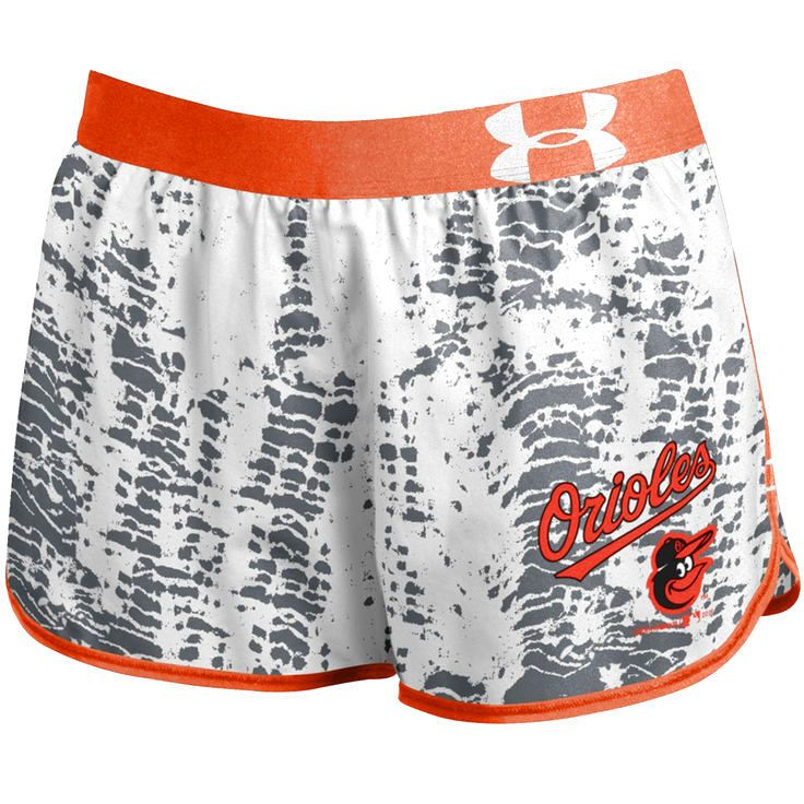 Baltimore Orioles Under Armour Women's Tied Up Performance Running Shorts - Gray - $36.99