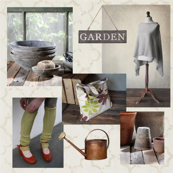 Garden by mdrozd on Polyvore featuring moda, Designers Guild, HomArt and rustic