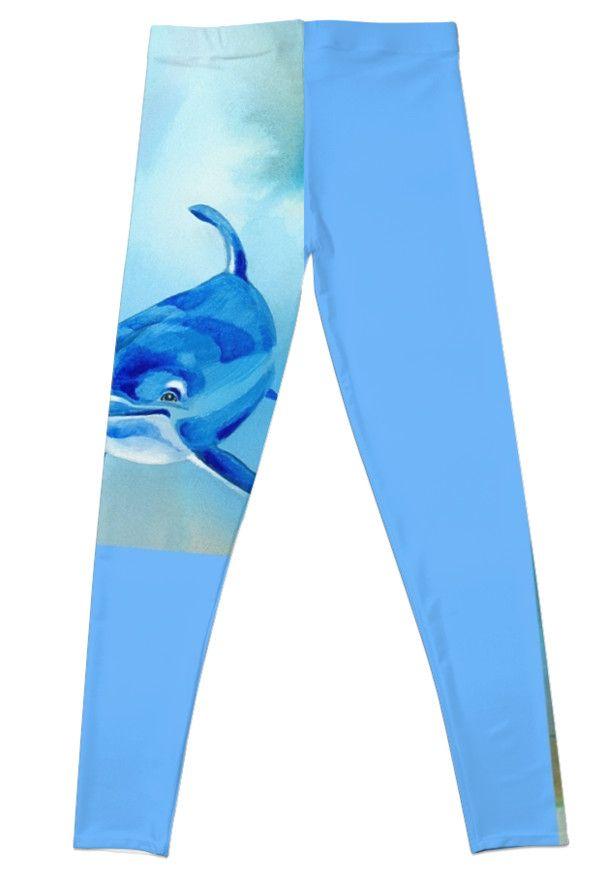Dolphins Floating Free Leggings - Back