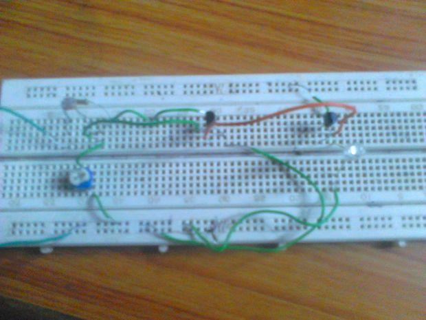 Dark Sensor Using Bc557 Build Circuit