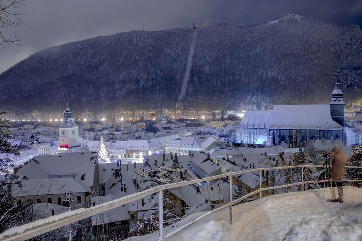 Foto: Brașovul sub zăpadă