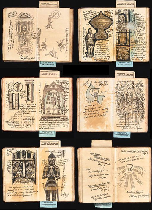 Auction record for Henry Jones's grail diary. Only the penitent man will pass. Indiana Jones and the Last Crusade.