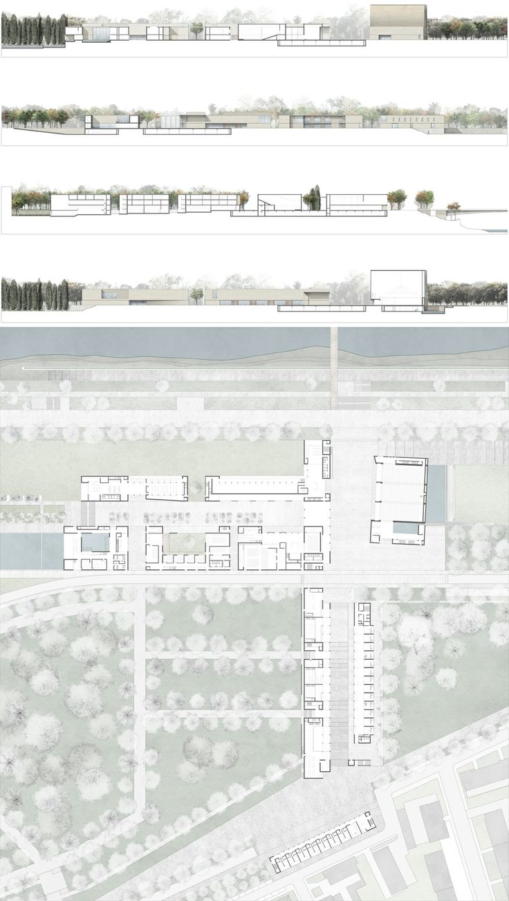 Islamic Cultural Centre_Main floor and Elevations