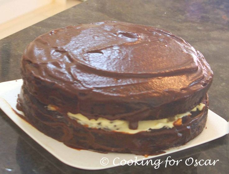 Cooking for Oscar: Best Ever Carob Cake with Jam and Cream Filling
