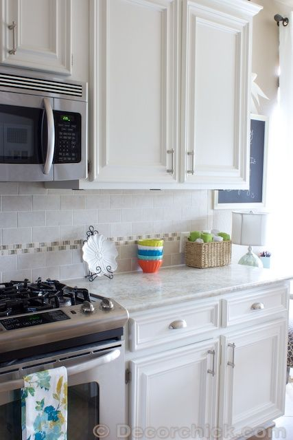 """...Sherwin Williams Alabaster...a perfect white. Creamy white but not yellow or antiquey white...not stark white either...just the perfect creamy white...  Fun Fact: SW's Alabaster is the exact formula of [Benjamin Moore's] white dove...""  Decor Chick"