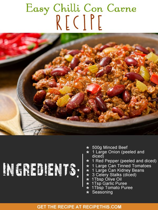 Easy Chilli Con Carne Recipe http://recipethis.com/easy-chilli-con-carne-recipe/