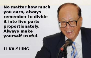 Hong Kong billionaire Li Ka-Shing shares some of his money wisdom, outlining an inspirational five-year plan to improve one's lot in life.