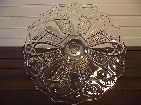 Vintage 1913 McKee Quintec Glass Pedestal by Peachsvintageglass, $39.95