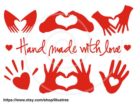 Hand made with love red heart handmade digital clip by Illustree, $5.00  https://www.etsy.com/listing/175433211/hand-made-with-love-red-heart-handmade?ref=shop_home_active_23