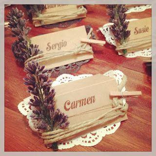 My Lovely Plan: Tarjetas de identificación para bodas rústicas