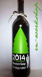butelka świateczno - noworoczna, prezent