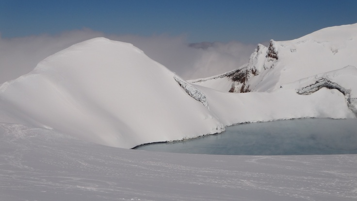 Mt Ruapehu - hiking to the crater