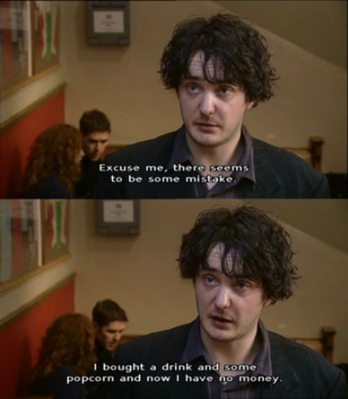 Going to the cinema. #mobc #blackbooks