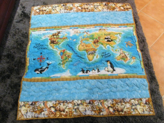 14 best elephant quilts images on pinterest elephants quilting made this world map quilt for sale in my etsy store gumiabroncs Gallery