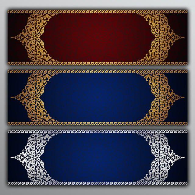 تصميم جودة عالية هد Golgen الحدود الذهبي الحدود قوالب بطاقة دعوة بطاقات المعايدة دعوات الرسومات الإبداعية ديكور الديك Banner Design Floral Border Design Design