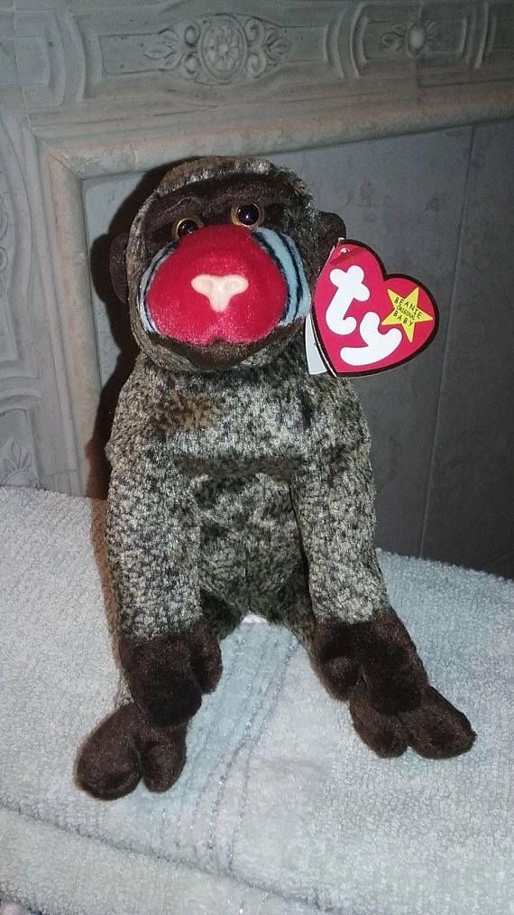 """a76fa55337a RARE  Cheeks  Beanie Baby NEW - RARE Tag Errors - MINT 1999 """"Cheeks""""  Limited Edition Ty Beanie Baby- 4 Rare Tag Errors. Find this at www.etsy.com shop   ..."""