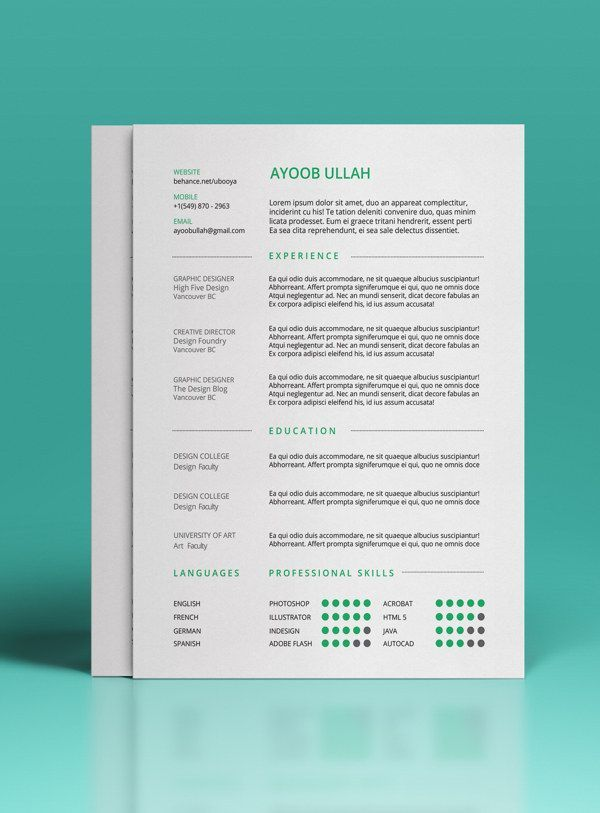 Todayu0027s Post Of 10 Best Free Resume (CV) Templates Will Guide You Through.  CV Is Only A Piece Of Paper That Can Work Like Magic For You.  Good Resume Design