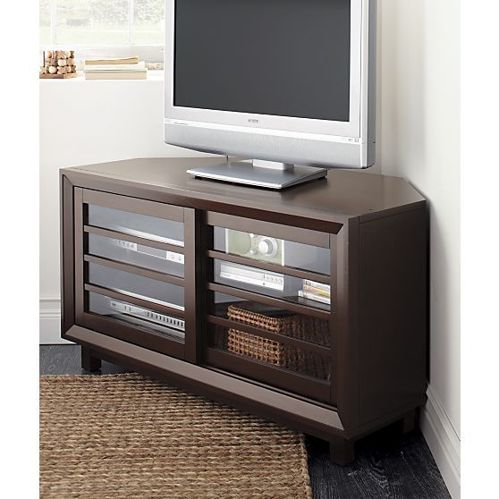 Farrow 44 corner media console in media stands consoles for Media stands and cabinets