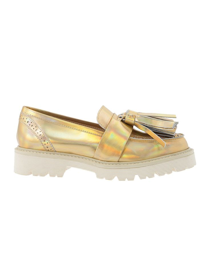 Make your statement with Fred Dedicated S/S 2015 - Phoenix Gold #Fred #keepfred #shoes #collection #leather #fashion #style #new #women #trends #flat #loafers #gold
