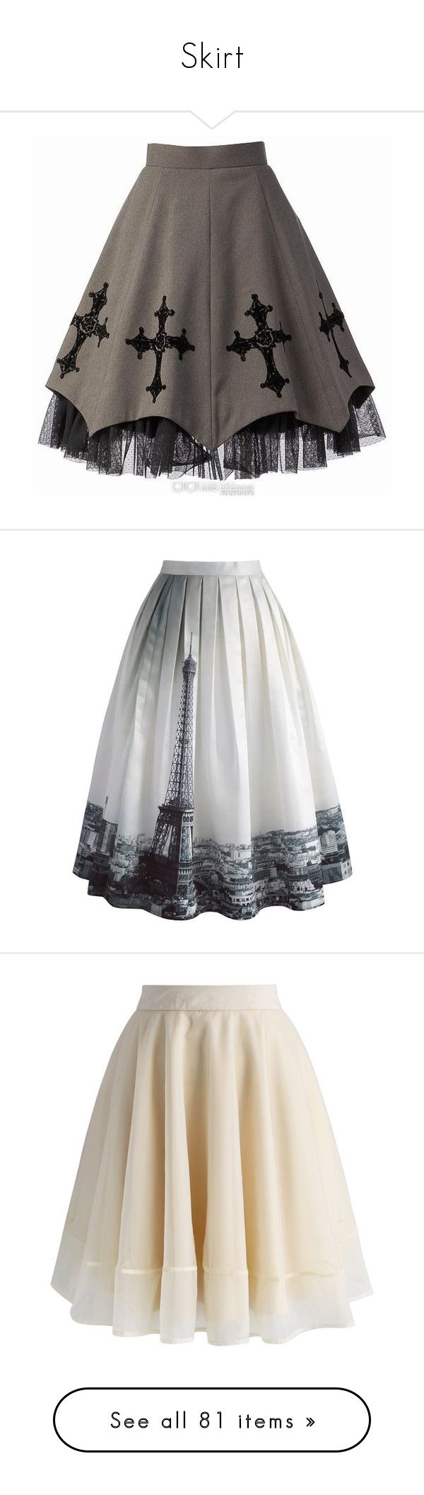 """""""Skirt"""" by lucyheartyui on Polyvore featuring skirts, mini skirts, bottoms, saias, faldas, women, lace mini skirt, gray skirt, grey mini skirt i rosette skirt"""