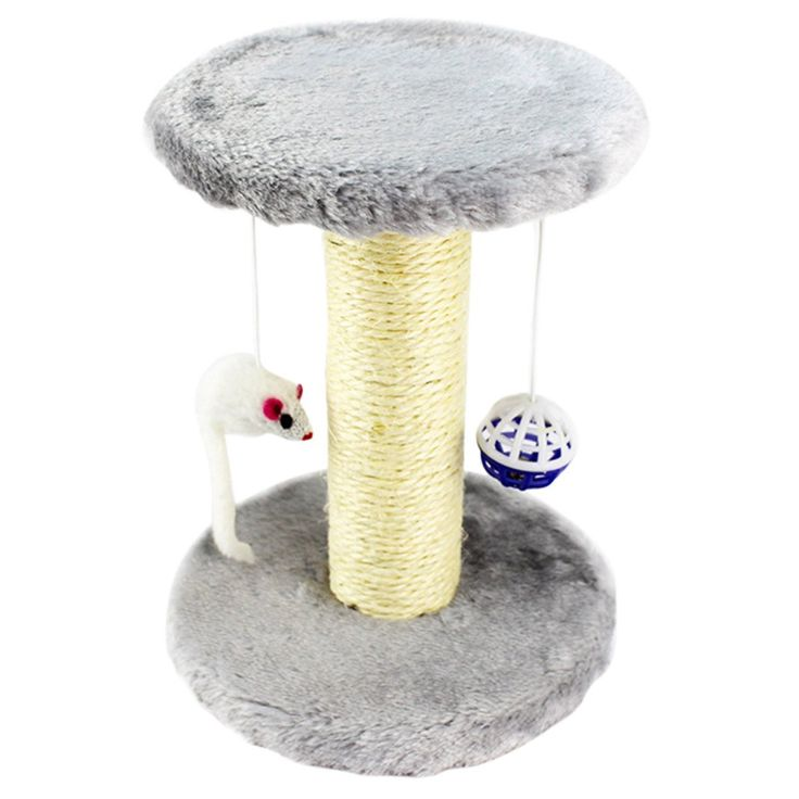 sisal rope cat scratching post with hanging ball and mouse durable pet cats scratching pad u003e