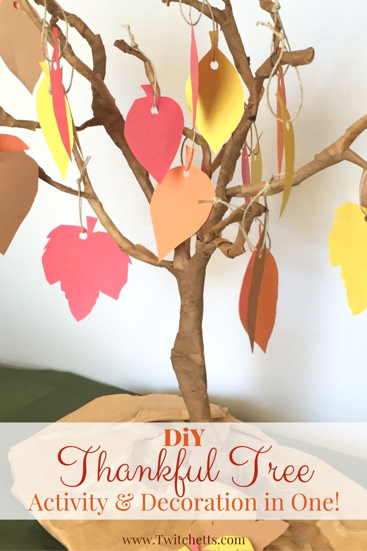 Diy thanksgiving decor kids - Create A Diy Thankful Tree For One Of Your Thanksgiving Decorations This Year This Activity