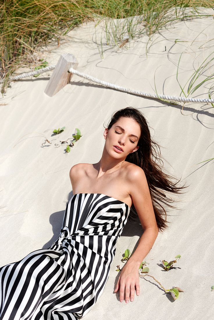 Silvia Tcherassi Resort 2017 Summer dress - striped dress - stripes