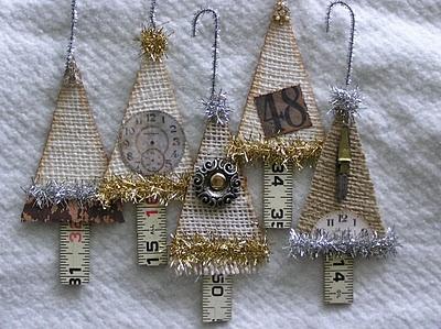 Burlap tree ornaments