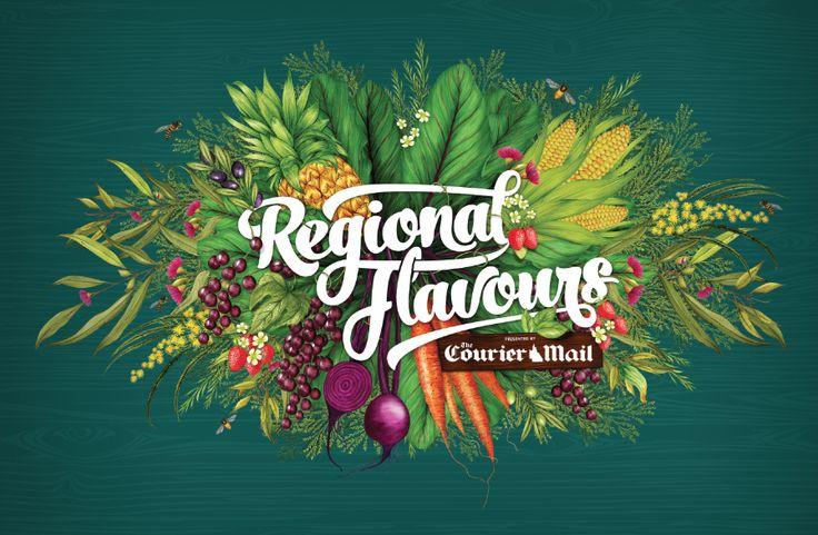 Edwina Buckley's illustration for Regional Flavours 2016 #edwinabuckley #lollilu #regionalflavours