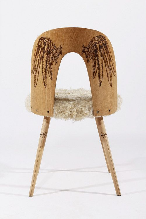 Wow!  Love this pair of chairs by Pyro Design!  Kickcan & Conkers: Burning Love