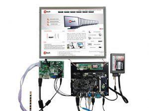 """LCD 7"""" Elevata Luminosità, Brillantezza e Contrasto (>1200 Candele) - 800*480 - Touch resistivo"""