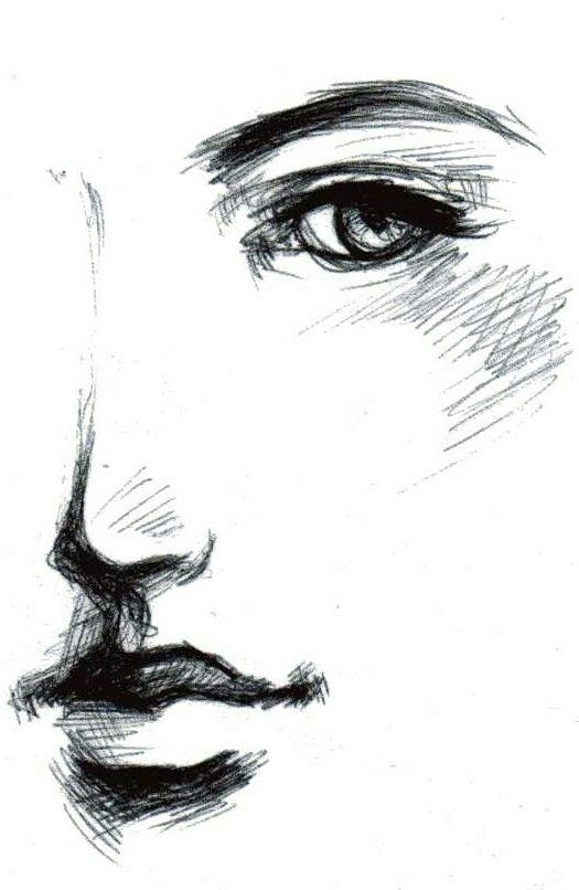 Image result for side profile face woman sketch