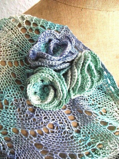 Breeze lace knitting stole