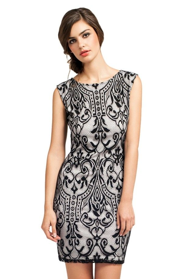 Black And White Lace Dress - pictures, photos, images