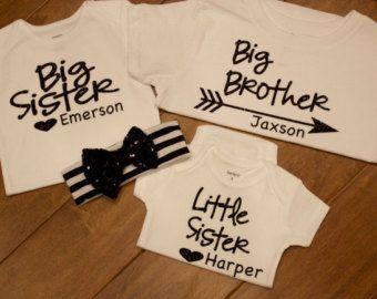 big sister shirt middle sister shirt little sister by PurpleAspen