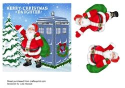 DR WHO CHRISTMAS CARD FOR DAUGHTER WITH 3D SANTA on Craftsuprint - View Now!