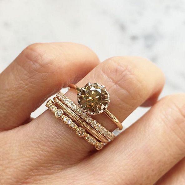 Wedding Rings Hipster Enement White Gold