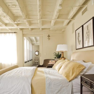OK, I'm stuck in the late 90's and early 2000s - I like this but would add a little pattern on coverlet for texture!