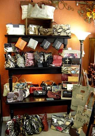 Purse display in the store turned out so cute!