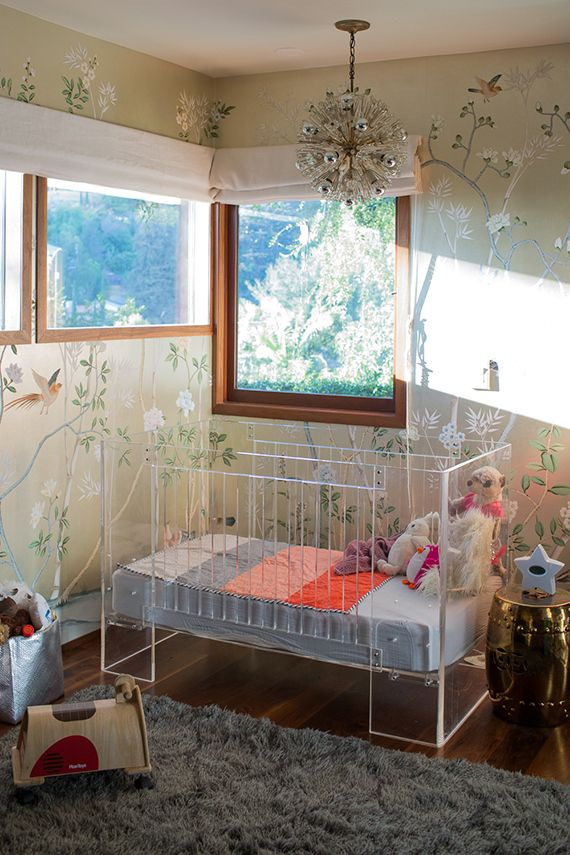 modern glam nursery - Metallic Kids Room Interior
