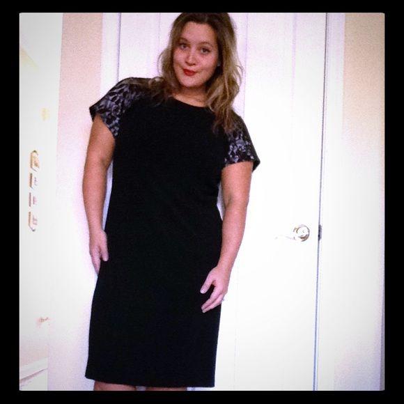 16W Black/Nude Sleeves Dress Stunning evening or black tie occasion dress Maya Brooke Dresses