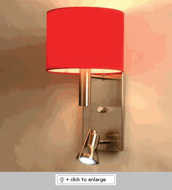 Arenal Red Chelsea 1 Wall Sconce Light  Item# ArenalRedChelsea1  Regular price: $300.00  Sale price: $255.00