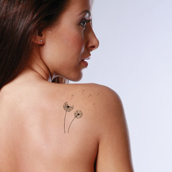 Flower tattoo, dandelion! Delicate and sweet.