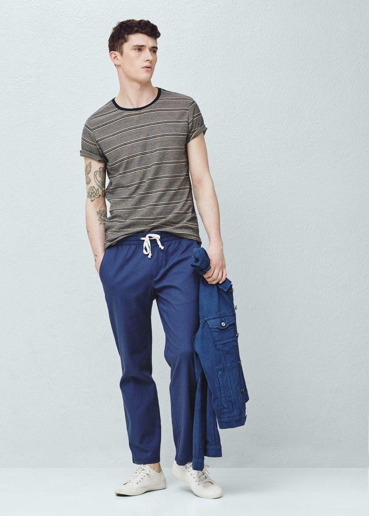 Pantalon jogging lin | MANGO MAN